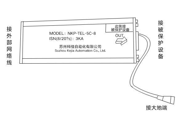 【科佳电气】各类型信号防雷器接线图