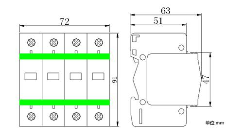 kdy-20/320/4p模块化d级20ka电源防雷器